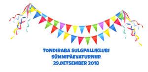29.detsembril toimub Tondiraba Sulgpalliklubi Sünnipäevaturniir