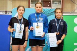 Tondiraba Sulgpallikooli õpilastele Eesti Noorte Meistrivõistlustelt neli medalit